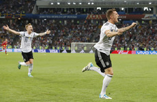 Kroos gets 10-man Germany out of jail with sublime injury-time free-kick