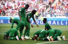 Egypt go home empty-handed as 95th-minute goal earns dramatic win for Saudi Arabia