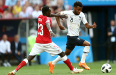 France and Denmark stroll into the last 16 after drab affair in Moscow
