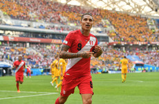 Striker who had drugs ban lifted fires Peru to World Cup victory and sends Socceroos packing