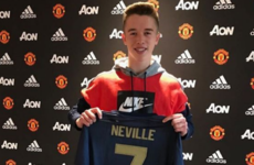 Phil Neville's 16-year-old son Harvey signs for Man United from Valencia