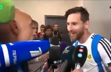 Messi stuns reporter by revealing he wore good-luck charm passed on by reporter's mother