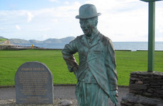 Double Take: The bronze statue of Charlie Chaplin standing alone in a Kerry village