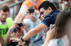 Maradona returns to health to watch France v Argentina
