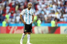Mascherano announces international retirement following Argentina's World Cup exit