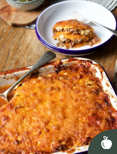 This sweet potato lasagne is ideal as a post-session recovery meal