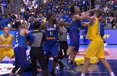 Chairs, punches and kicks fly as international basketball game turns into all out war