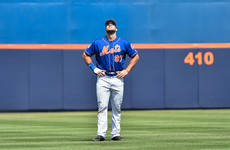 Tim Tebow got bopped in the head by a baseball last night