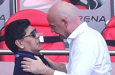 Maradona apologises to Fifa over England 'monumental theft' claim