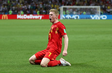 A devastating counter attack and De Bruyne bullet has Belgium in control against Brazil