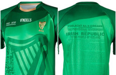 1916 jersey 'by far' the best selling in O'Neill's 100 year history with sales of €2 million