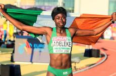 15-year-old Rhasidat Adeleke storms to 200m gold for Ireland at European Championships