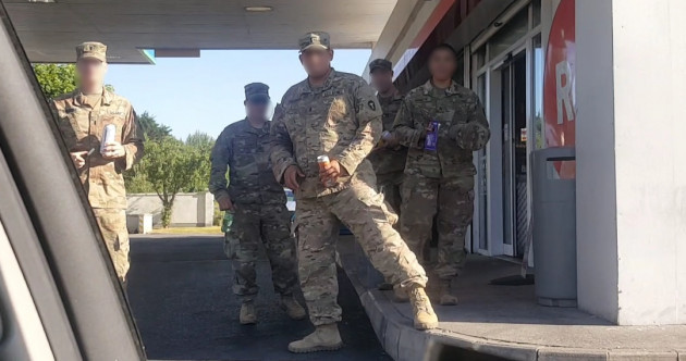 American soldiers wore uniforms in Shannon town without Irish government approval