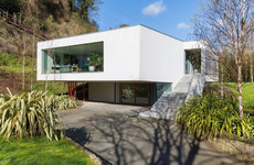 This contemporary family home has floor-to-ceiling views of the Wicklow hills