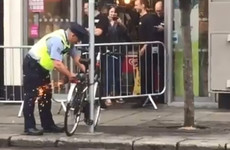 Gardaí took angle-grinders to some bike locks in Dublin today (but they'll pay the owners back)