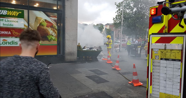 Dublin Fire Brigade issues warning to stay away from skip blazes after fire by O'Connell Bridge