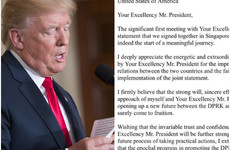 Trump tweets 'very nice' letter from Kim Jong Un as he stokes Brexit turmoil upon arrival in UK
