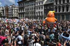 Tens of thousands spill onto London's streets in protest of Donald Trump visit