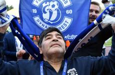 Maradona presented as new chairman of Belarus side Dynamo Brest