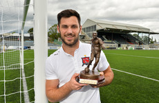 Dundalk striker's stellar form sees him land LOI Player of the Month award