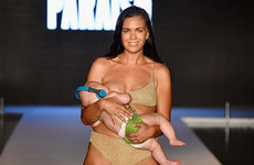 This Sports Illustrated runway show features an amputee and a breastfeeding model
