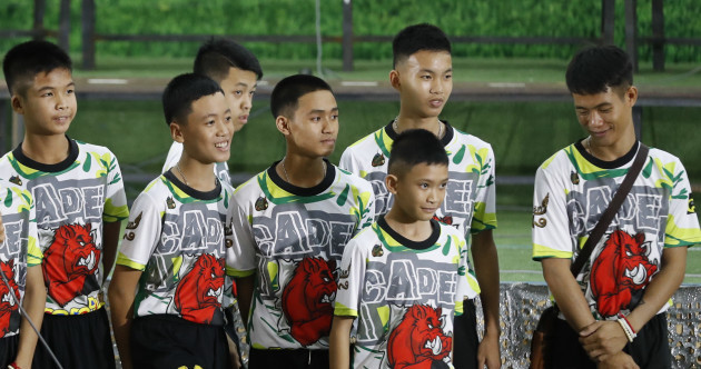 'I heard someone say hello - it was a miracle': Thai football team speak about being trapped in the cave
