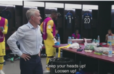Watch: Didier Deschamps' half-time team talk at the World Cup final