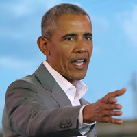 Barack Obama is urging women to get more involved in politics as 'men have been getting on my nerves'