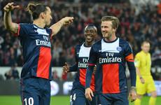 Ibrahimovic vows to honour David Beckham bet and wear England shirt at Wembley