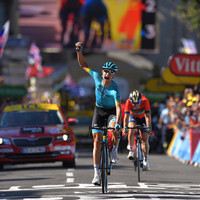Debutant Cort Nielsen dominates three-man sprint as Dane claims first ever Tour stage win