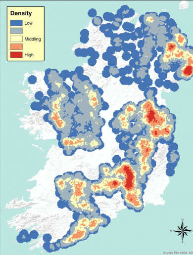 Maps show distribution of wealth in 14th-century Ireland