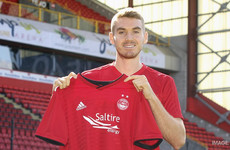 Ex-Ireland U21 international Hoban joins Aberdeen