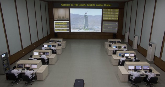 In pictures: Welcome to the North Korean space control centre!