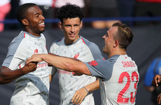 Super Shaqiri bicycle kick helps Liverpool trounce youthful Manchester United