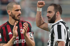 Higuain close to joining Milan while Bonucci set to make Juve return