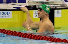 Shane Ryan leads 11-strong Irish swim team at European championships