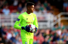 16-year-old goalkeeper up for League of Ireland player of the month award