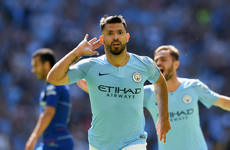 Aguero shines with a double as Man City complete Community Shield triumph