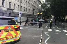 Westminster car crash: Man arrested on suspicion of terrorist offences