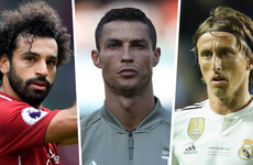 Salah, Ronaldo and Modric to battle for Uefa Player of the Year award