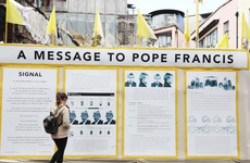 New artwork installed at site of 'Somebody's Child' exhibition in Temple Bar for Pope's visit