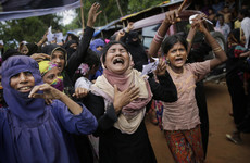 Rohingya refugees protest for 'justice' on first anniversary of a Myanmar military crackdown