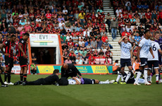 Concern for Keane as Everton defender goes to hospital after sickening collision