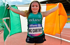 Cork's Niamh McCarthy smashes European discus record to secure Ireland's sixth gold medal in Berlin