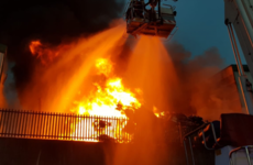 A huge fire is raging at a scrap metal recycling factory in Limerick