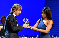 Modric pips Salah and Ronaldo to win Uefa's player of the year award