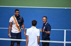 Federer, Djokovic through as storm rages over umpire's Kyrgios pep-talk