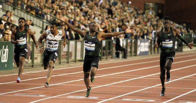 Christian Coleman ran the fastest 100m in more than three years last night