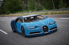 This life-size Bugatti Chiron is made out of Lego Technic