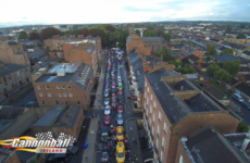 Almost 200 supercars are driving around Ireland in an attempt to break a world record